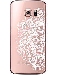 Недорогие -Кейс для Назначение SSamsung Galaxy Samsung Galaxy S7 Edge Прозрачный / С узором Кейс на заднюю панель Мандала Мягкий ТПУ для S7 edge / S7 / S6 edge plus