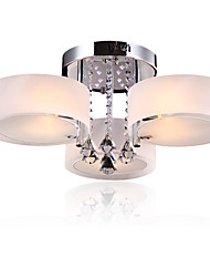cheap -Modern LED Crystal Ceiling Lamp 3 Heads Flush Mount lights Entry Hallway Restaurant  Kitchen light Fixture