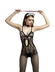 cheap -Women's Suits Nightwear Jacquard - Medium Rayon Nylon Black