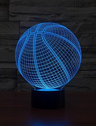 3D Basketball Shape LED Art Sculpture Night Lights Desk Lamp 3D Visualization Home Color-Changing Night Light