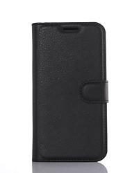 Недорогие -Для Кейс для  Samsung Galaxy Бумажник для карт / Кошелек / со стендом / Флип Кейс для Чехол Кейс для Один цвет Твердый Искусственная кожа
