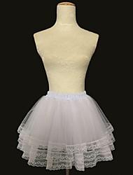 glisse slip de robe de balle courte acrylique avec accessoires de mariage
