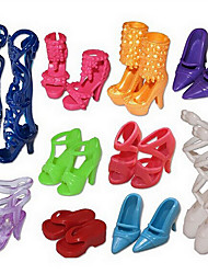 billiga -1483 tillbehör / docka kan barn och andra 10 par skor passar leksaker / nya sandaler som innehåller 100 uppsättningar av