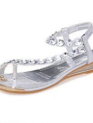 cheap -Women's Shoes Flat Heel Mary Jane Sandals Casual Silver/Gold