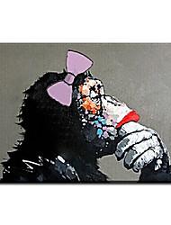 Dipinta a mano Animali Dipinti ad olio,Stile / Modern / Classico / Realismo / Mediterraneo / Pastorale / Stile europeo Un Pannello Tela
