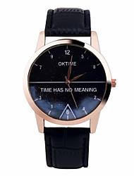 baratos -Mulheres Relógio de Pulso Cronógrafo Couro Banda Brilhante / Fashion Preta / Branco / Marrom