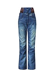 Gsou donne neve cowboy pantaloni da sci / snowboard / pantaloni doppie da snowboard / signore delle donne pantaloni da indossare termici