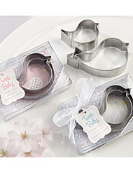 2pcs/box - Mamma and Baby Bird Stainless-Steel Cookie Cutters - Random Pink / Blue Tag Shipment - Beter Gifts®