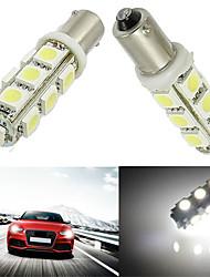 10pcs BA9S 13smd 5050 couleur blanche voiture auto LED lampe à ampoule (DC12V)