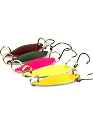 cheap -5pcs 3cm/3g Spoon Metal Fishing Lures Spinner Baits