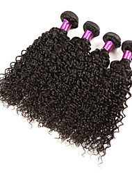 Ciocche a onde capelli veri Brasiliano Kinky Curly 18 mesi 4 pezzi tesse capelli