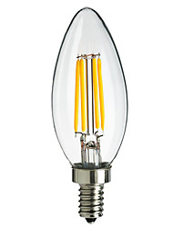4W E14 360LM LED Filament Light Bulb Flame Tip Style(AC220-240V)