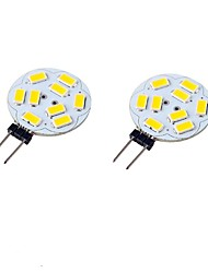 abordables -2pcs 3W 300-350 lm G4 LED à Double Broches T 9 diodes électroluminescentes SMD 5730 Décorative Blanc Chaud Blanc Froid 9-30 DC 24V AC 24V