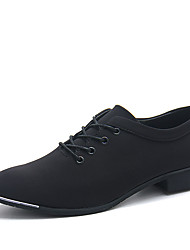 cheap -Men's Suede Shoes Stretch Satin Spring / Fall Casual / Comfort Oxfords Running Shoes Slip Resistant Black / Blue
