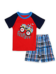 cheap -Boy's Daily Patchwork Clothing Set / Sleepwear
