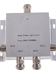 cheap -4-Way N Female Power Divider Splitter 800-2500MHz for Mobile Phone Signal Booster Repeater