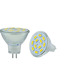 2.5W GU4(MR11) Luces LED de Doble Pin MR11 12 leds SMD 5730 Decorativa Blanco Cálido Blanco Fresco 250-300lm 3000-3500/6000-6500K DC 12V
