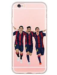 Недорогие -Назначение iPhone X iPhone 8 iPhone 6 iPhone 6 Plus Чехлы панели Ультратонкий Полупрозрачный Задняя крышка Кейс для Мультипликация Мягкий