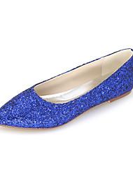cheap -Women's Shoes Glitter Spring / Summer Flats Flat Heel Sparkling Glitter Green / Blue / Black / Red / Wedding / Party & Evening