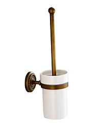 держатель для туалетной щетки античная латунь настенные аксессуары для ванной комнаты