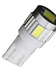 cheap -4X  White T10 Side Wedge SAMSUNG 5630 6SMD LED License Map Light W5W 2825