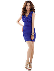 cheap -Women's Bodycon Dress - Solid Colored Ruched