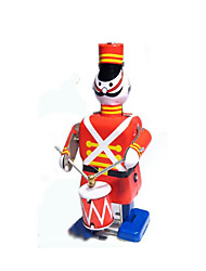 Novelty Toy  Puzzle Toy  Educational Toy  Wind-up Toy Puzzle Toy  Warrior  Musical Instruments  Robot Metal Red For Kids