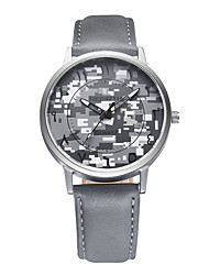 abordables -REBIRTH Hombre Cuarzo Reloj de Pulsera / Gran venta PU Banda Casual camuflaje Moda Negro Blanco Gris