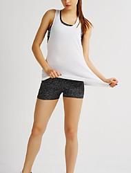 Per donna Canotta per allenamento Senza maniche Asciugatura rapida Traspirante Top per Yoga Esercizi di fitness Corsa Cotone Largo Bianco