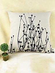 cheap -Plants Print  Cotton/Linen Pillow Cover