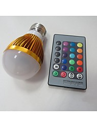 E26/E27 LED Smart Bulbs A60(A19) 1 High Power LED 100-230 lm RGB 2000-3500 K Sensor Infrared Sensor AC 85-265 V