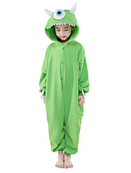 cheap -Kigurumi Pajamas One-Eyed Monster / Monster Onesie Pajamas Costume Polar Fleece Cosplay For Kid's Animal Sleepwear Cartoon Halloween