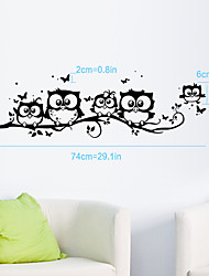 cheap -Decorative Wall Stickers - Plane Wall Stickers Fashion Living Room / Bedroom / Bathroom / Removable