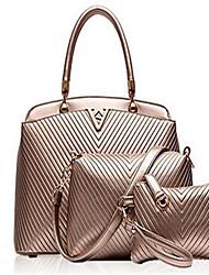 preiswerte -Damen Taschen PU Umhängetasche 3 Stück Geldbörse Set für Normal Draussen Schwarz Dunkelblau Golden