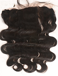 Недорогие -Перуанские волосы 100% ручная работа Естественные кудри Бесплатный Часть Швейцарское кружево Натуральные волосы