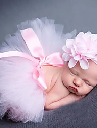 Newborn Princess Vintage Photography Prop Birthday Headband and Skirt Sets(0-5Month)
