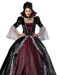 cheap -Cosplay Costumes/Party Costumes Ghost / Zombie / Vampires Halloween / Christmas / Carnival Red / Black Vintage Dress Halloween/Christmas/New Year