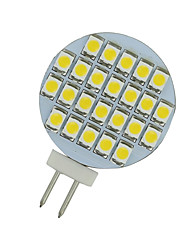 cheap -2 PCS Warm White 3500K AC/DC 12V G4 24 SMD LED Reading Marine Boat Spot Light US