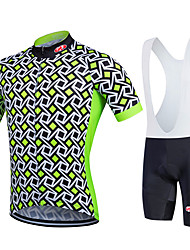Fastcute Cycling Jersey with Bib Shorts Men's Women's Kid's Unisex Short Sleeves Bike Bib Shorts Sweatshirt Jersey Bib Tights Quick Dry