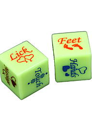 Dice Spoof Fun Dice Toys Spoof Fun Plastic Romance 2 Pieces Christmas Valentine's Day Gift