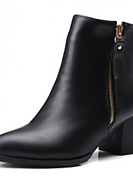 cheap -Women's Shoes Synthetic Winter Fall Cowboy / Western Boots Combat Boots Heels Walking Shoes Chunky Heel Block Heel Zipper for Wedding