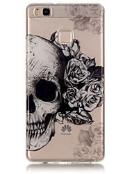 cheap -TPU Material + IMD Technology Skull Pattern Painted Relief Phone Case for Huawei P9 Lite/P9/P8 Lite