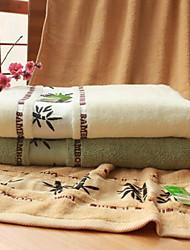 Serviette de bain,Jacquard Haute qualité 100% Fibre de bambou Serviette