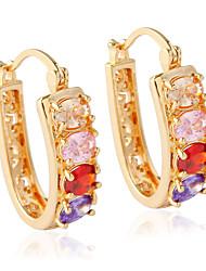 cheap -Women's Stud Earrings - Fashion White / Silver / Rainbow For Wedding
