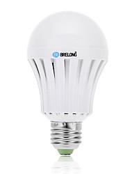 BRELONG® 800 lm E26/E27 Lâmpada Redonda LED A60(A19) 18 leds SMD 5730 Recarregável Branco Frio AC 85-265V