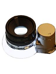 Недорогие -OUJIN 20 X Лупы Зеркала Высокое разрешение LED Складной пластик Металл