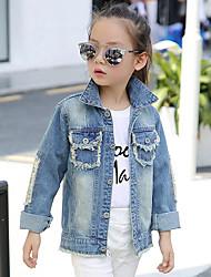 economico -Jeans / Giubbino e cappotto Girl Casual Collage Cotone Primavera / Autunno Blu