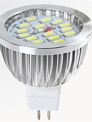 GU5.3(MR16) LED Spotlight MR16 15 SMD 5730 650lm Warm White Cold White 2700-6500K Decorative DC 12V