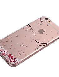 Para iPhone 8 iPhone 8 Plus iPhone 6 iPhone 6 Plus Carcasa Funda Transparente Cubierta Trasera Funda Flor Suave TPU para iPhone 8 Plus