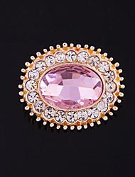 baratos -Mulheres Broches - Estiloso, Fashion Broche Vermelho / Azul / Rosa claro Para Casamento / Dia a Dia